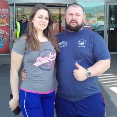 Sorin Cazacu Laura Bacria powerlifting