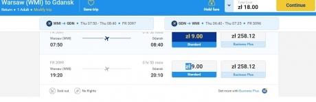 bilet Ryanair