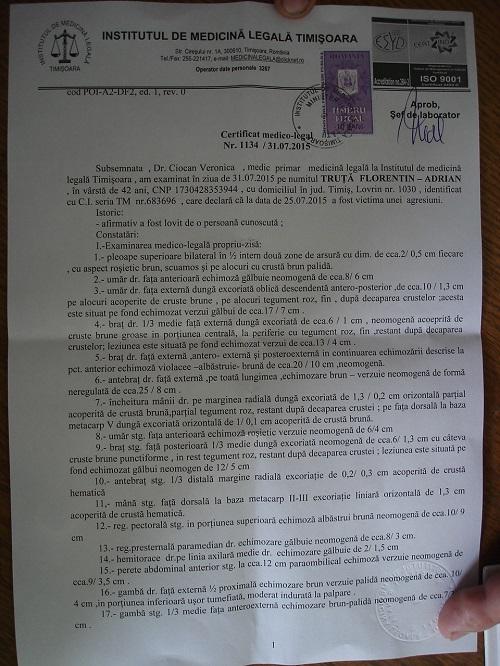 certificat medico-legal