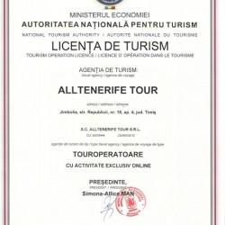 licenta turism alltenerife