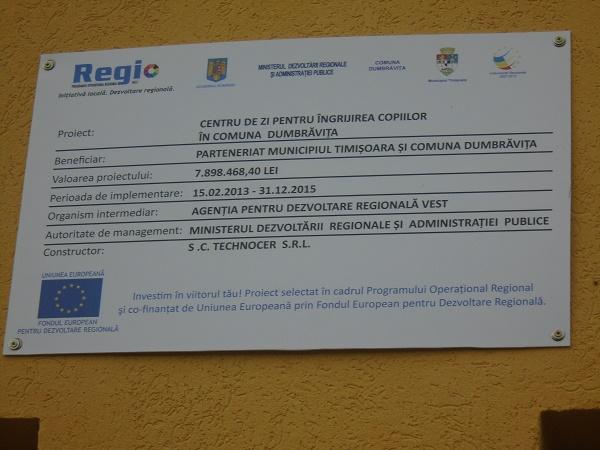 Un proiect care va intra în istoria comunei Dumbrăvița. Din păcate, în cea negativă...