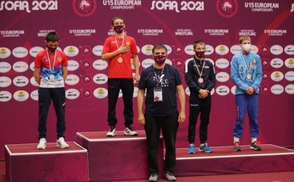Maxim Sarmanov, medaliat cu bronz la Campionatul European U15 (galerie foto)