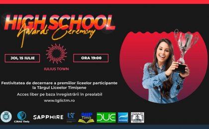 Festivitatea de decernare a premiilor liceelor participante la Târgul Liceelor Timișene. Şcolile câştigătoare