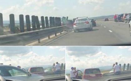 Accident rutier pe Autostrada A1. O mașină a intrat în parapetul median
