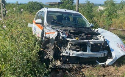 Accident teribil: ambulanţă izbită de un tren care circulă pe ruta Timișoara - Caransebeș