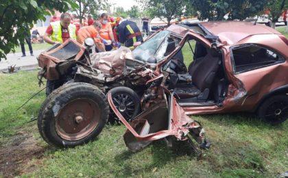 Accident cu doi morți, pe o șosea din vestul țării. Foto!