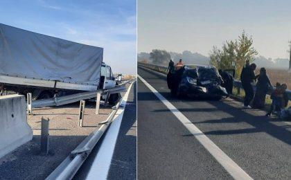 Accident grav pe autostrada A1, în vestul ţării