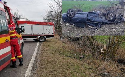 Accident mortal pe șoseaua Timișoara - Arad. Trafic dat peste cap