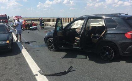 Video! Primele imagini cu teribilul accident de pe Austroda A1, de lângă Timișoara