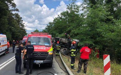 Accident mortal pe DN7: șofer proiectat prin parbriz