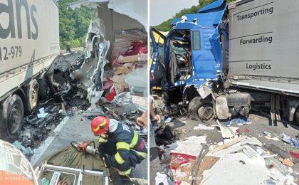 Accident mortal pe DN 6, în vestul ţării. Imagini teribile