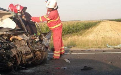 accident pe drumul intre Timisoara si Cenad