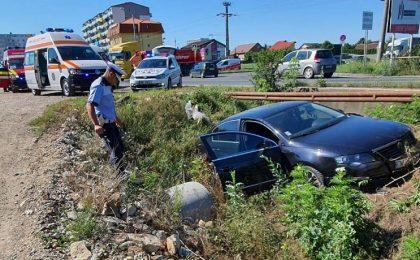 Accident grav la ieşirea din Timişoara. Foto