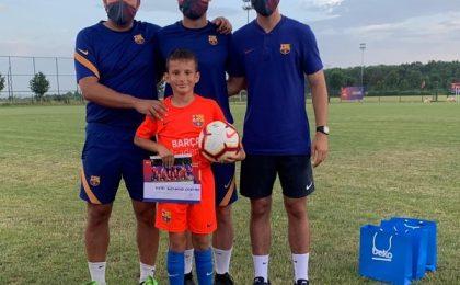 Un puşti de doar 10 ani din Timişoara, în atenţia academiei FC Barcelona