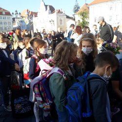 Emoții, entuziasm, dar și unele regrete în prima zi de școală, la Timişoara. Foto