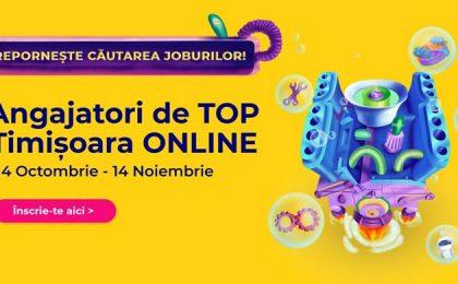 Cel mai mare târg de carieră din Banat, Angajatori de TOP Timișoara, va avea loc exclusiv online. Companiile din vestul țării fac mai multe angajări față de prima jumătate a anului