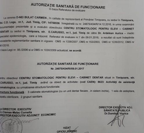 Autorizația sanitară de funcționare a fost eliberată cu încălcarea legislației