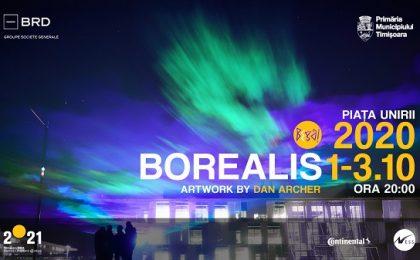 BEGA! Borealis vine în centrul Timişoarei