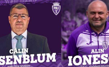 Călin Rosenblum, numit director sportiv la Politehnica Timişoara. Alin Ionescu va coordona academia