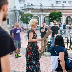"""Timișoara 2023-Capitală Europeană a Culturii merge înainte: """"Tinerețe fără bătrânețe și viață fără de moarte"""", în Piața Libertății"""