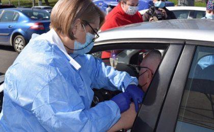 Centrul de vaccinare din mașină din nordul Timișoarei ar putea fi relocat