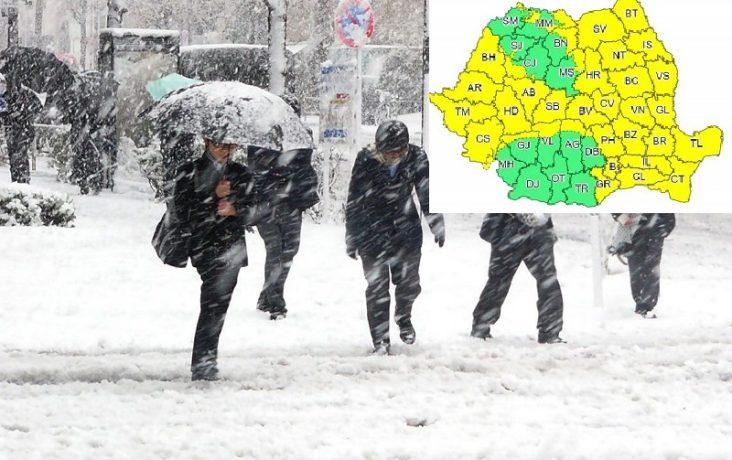 Meteorologii au emis nouă alertă de vreme severă