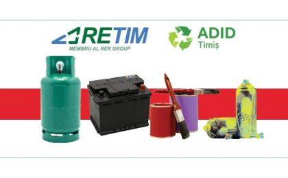 Ai acasă deşeuri periculoase? Predă-le legal și gratuit în cadrul campaniei RETIM și ADID Timiș din localitatea ta!