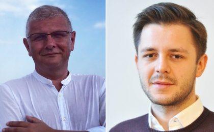 Adversari înverșunați pe Facebook, Dan Diaconu și Ruben Lațcău iau prânzul împreună în mijlocul orașului