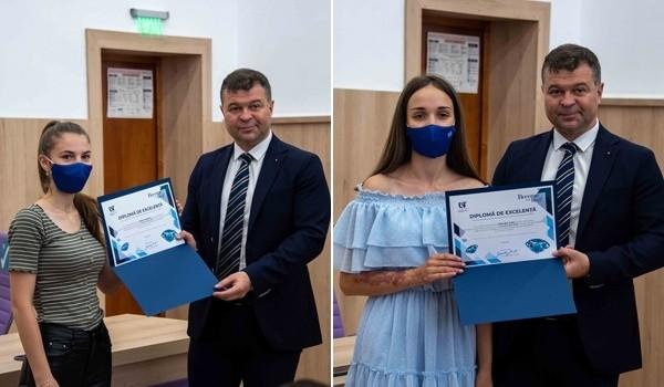 Cele două eleve de 10 ale Caraș-Severinului vor studia la Universitatea de Vest din Timișoara
