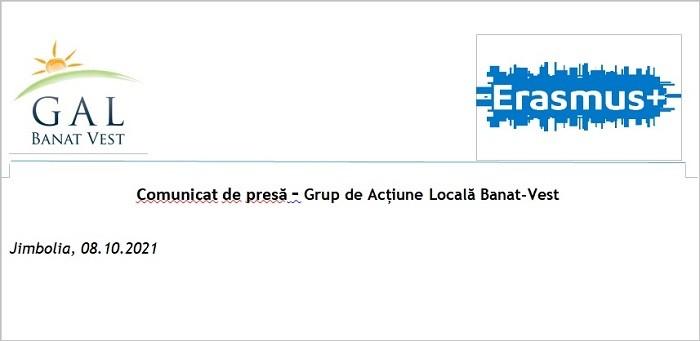 Comunicat de presă - Grup de Acțiune Locală Banat-Vest