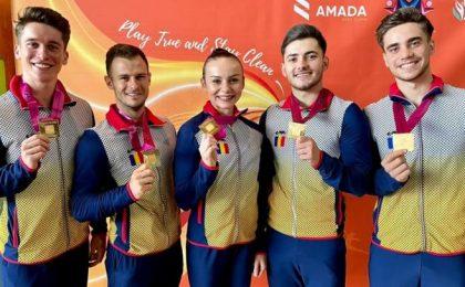 România, campioană mondială la gimnastică aerobică, în proba de grup