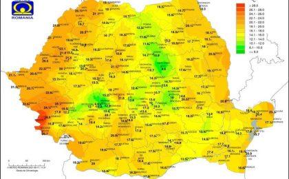 Una dintre cele mai calde nopți de când există date: +28,9 grade în Banat