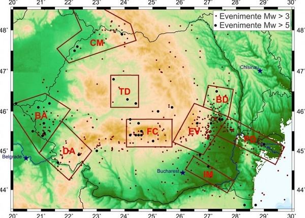 Infp A Publicat Harta Zonelor Seismogene Cu Risc Ridicat Vezi Cat