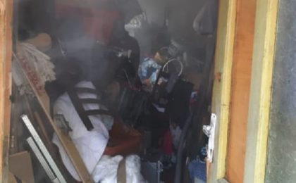 Un om a murit într-un incendiu, în vestul țării
