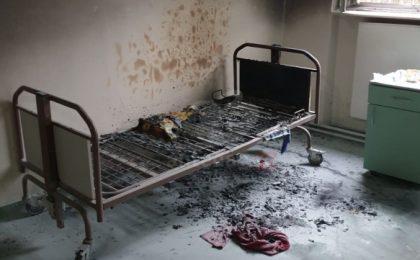 Incendiu la o secție a Spitalului de Psihiatrie din Gătaia unde sunt internați bolnavi cu coronavirus