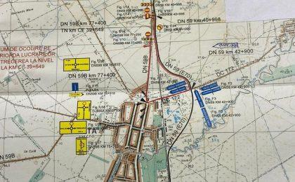 Se închide circulaţia în zona Deta. Harta cu traseul deviat