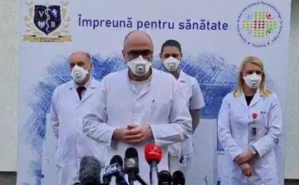 Moment emoţionant la Spitalul de Boli Infecţioase din Timişoara (video)