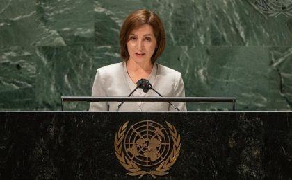 Maia Sandu, la ONU: Cerere de retragere completă și necondiționată a forțelor rusești din regiunea transnistreană | Video