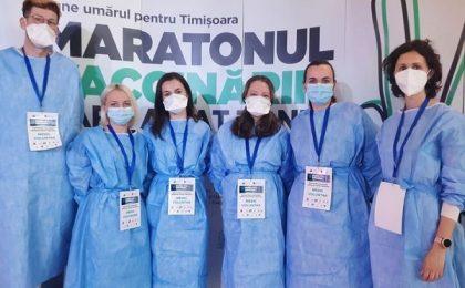 Peste 8.500 de oameni, vaccinaţi la maratonul de trei zile şi trei nopţi de la Timişoara!