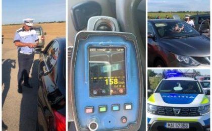 Tânăr şofer de BMW prins cu 158 km/h pe un drum din vestul țării