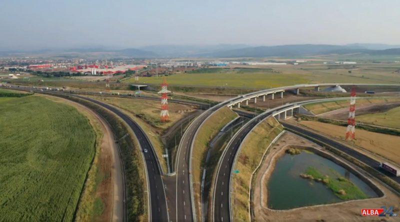 S-a deschis circulația pe bretelele 1 și 2 ale nodului rutier Sebeș