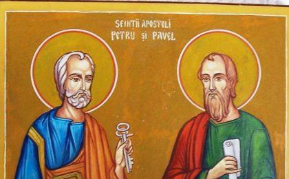 Sfinţii Apostoli Petru şi Pavel. Peste 500.000 de români își sărbătoresc astăzi onomastica