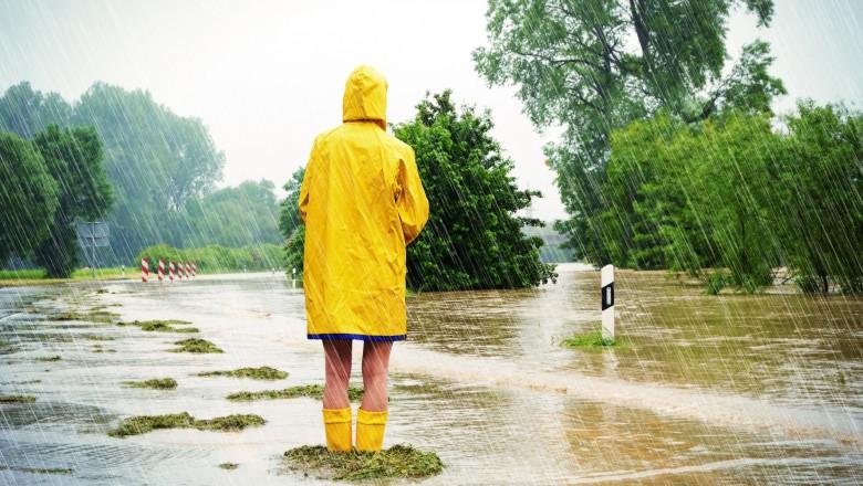 Alertă meteo: Ploi abundente în vestul țării. Cantitățile de apă vor atinge 60 l/mp