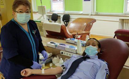 Jandarmii din Timis donează sânge