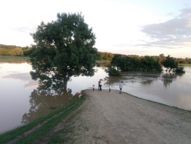Râul Timiș a ieșit din matcă într-o comună de lângă Timișoara. Video