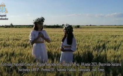 """Riana şi Andra, două surori din Giroc, premiate la Festivalul Național Concurs """"Regina Sânzienelor"""" (video)"""