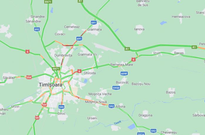 Cum ajungi în Timișoara dacă drumul trece prin localitățile aflate în carantină