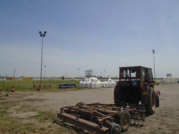 Staţia de mecanizare din incinta stadionului