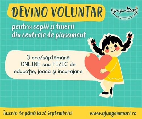 Apel la voluntariat pentru copiii din centrele de plasament din Timiş