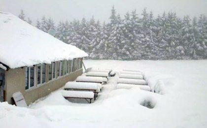 A căzut prima zăpadă serioasă în Munții Banatului. Pe Semenic, zăpada are in jur de 30 de cm și ninge (video)